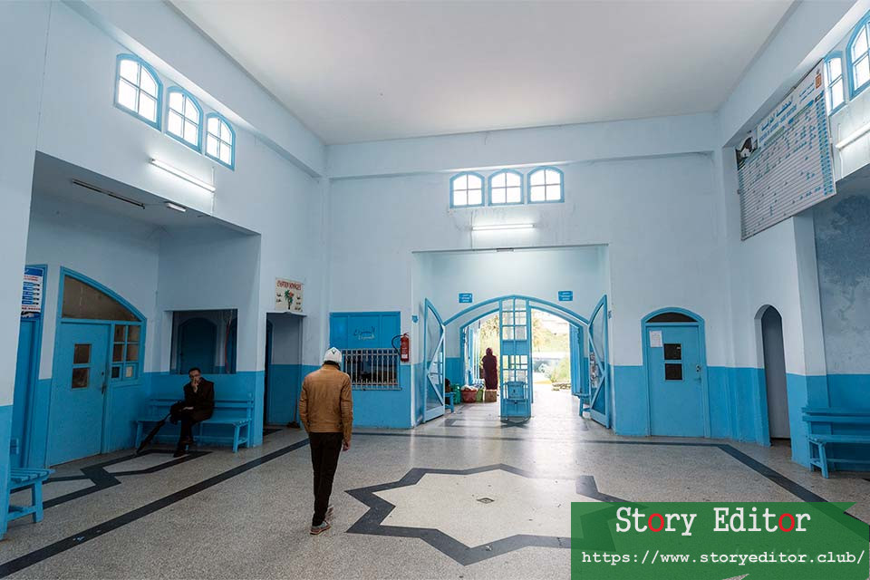 Interior of Chefchaouen bus station (Morocco)