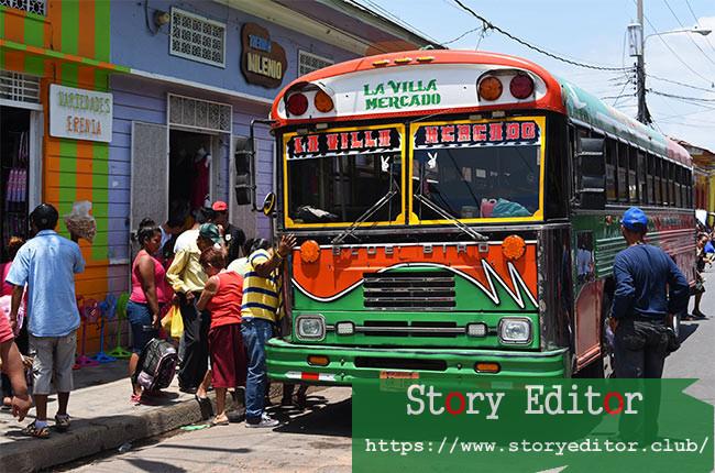 Local bus in Granada (Nicaragua)