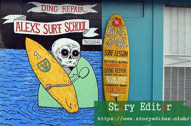 "Surf school ""Alex's Surf School"" in San Juan del Sur (Nicaragua)"