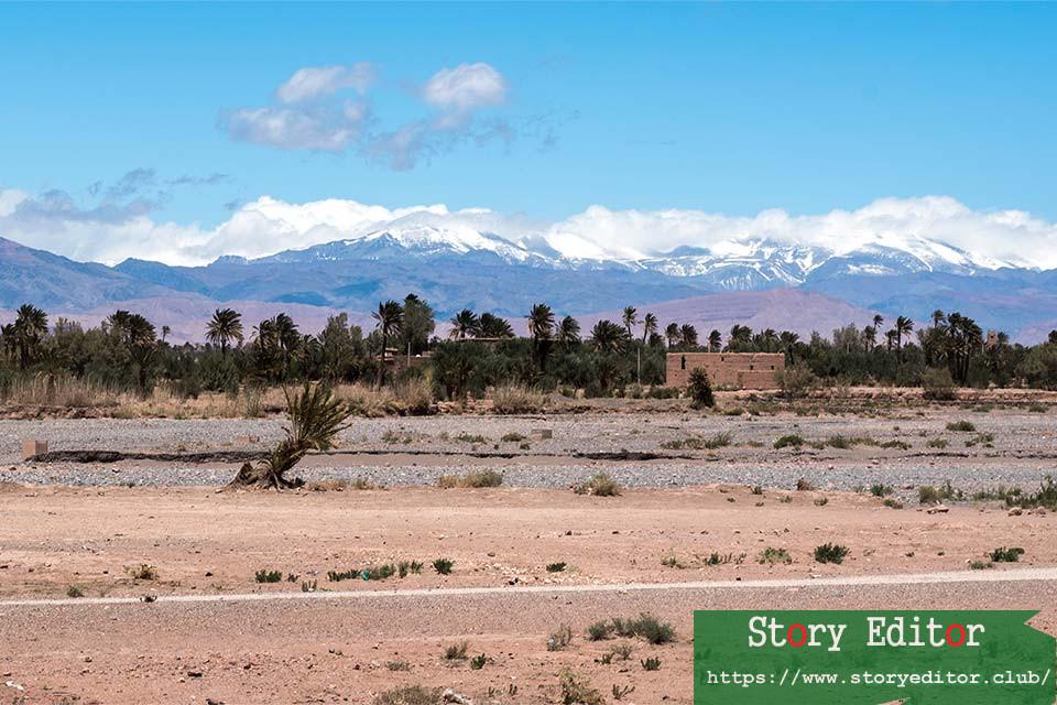 Landscape in Skoura (Morocco)