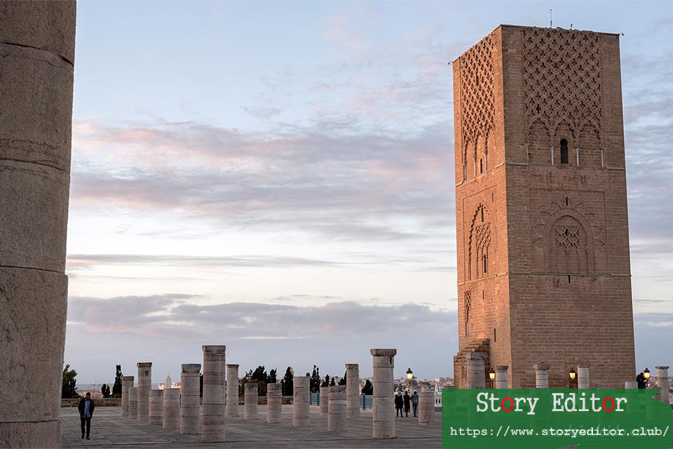 Hassan Tower during sunset (Rabat, Morocco)