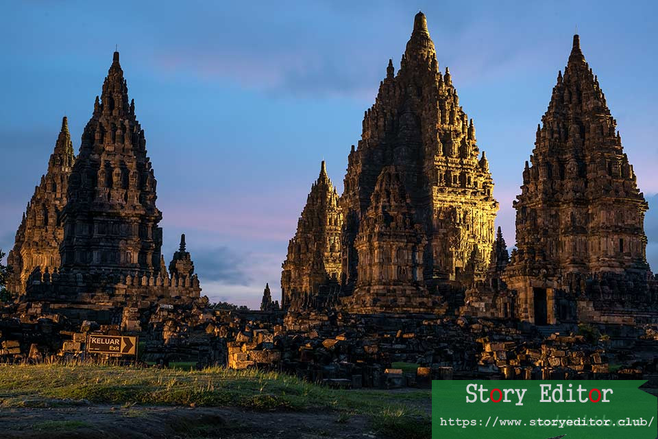 Sunset in Prambanan (Java, Indonesia)