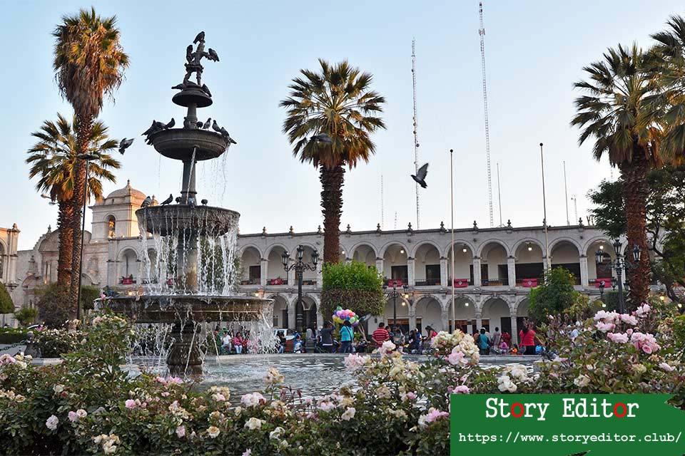 Plaza de las Armas de Arequipa (Peru)