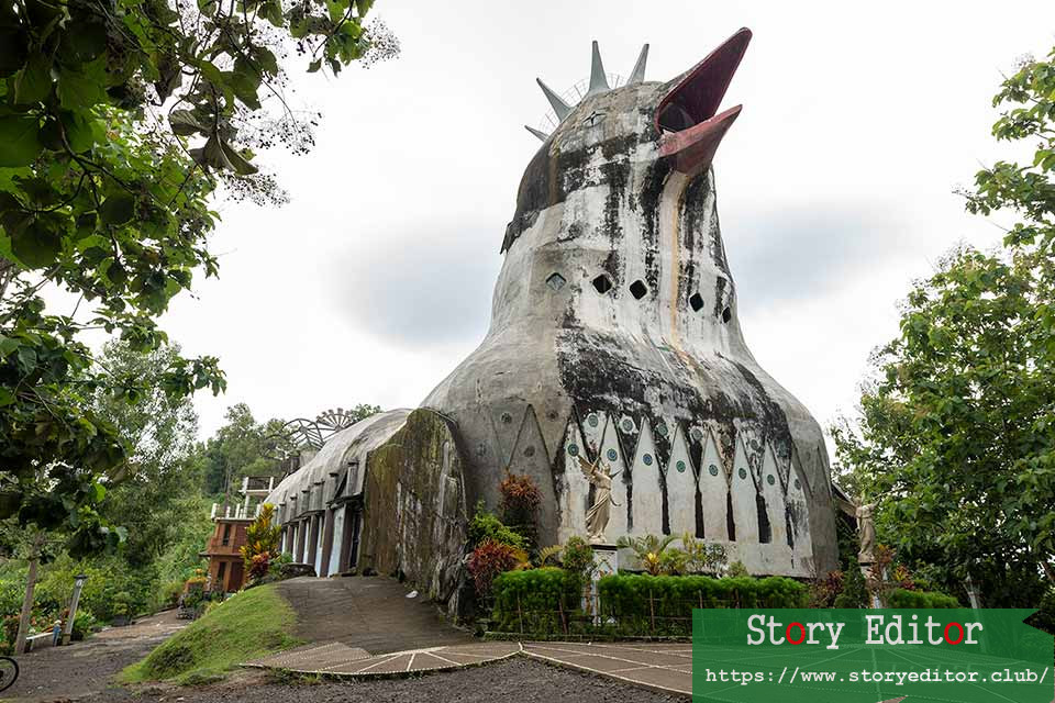 "Facade of ""Chicken Church"" (Gereja Ayam) in Java (Indonesia)"