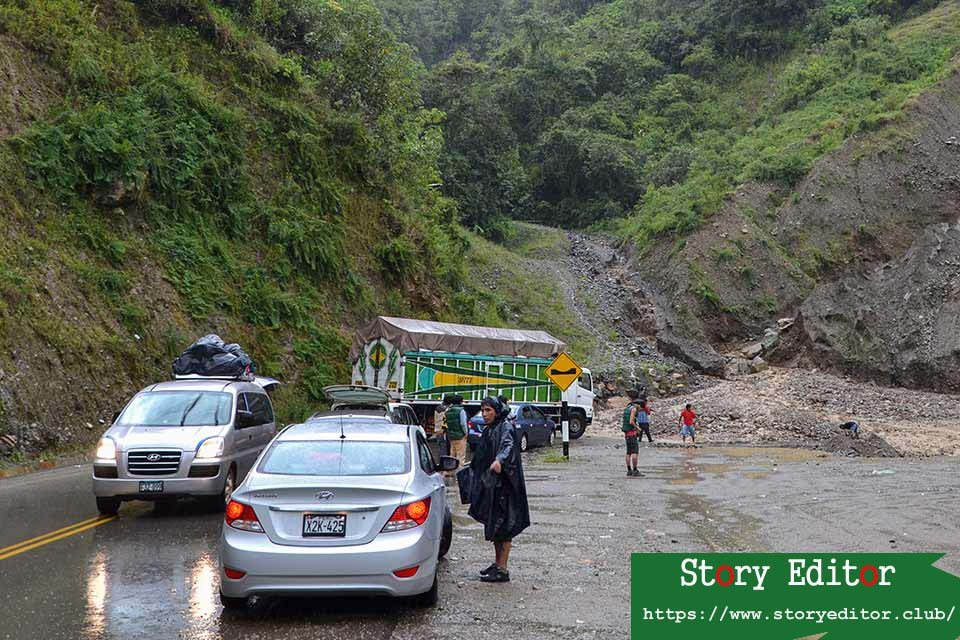 Collapse Santa María - Cuzco highway