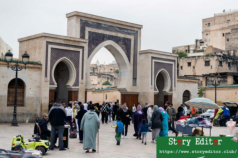 Plaza Rcif in the medina of Fez (Morocco)