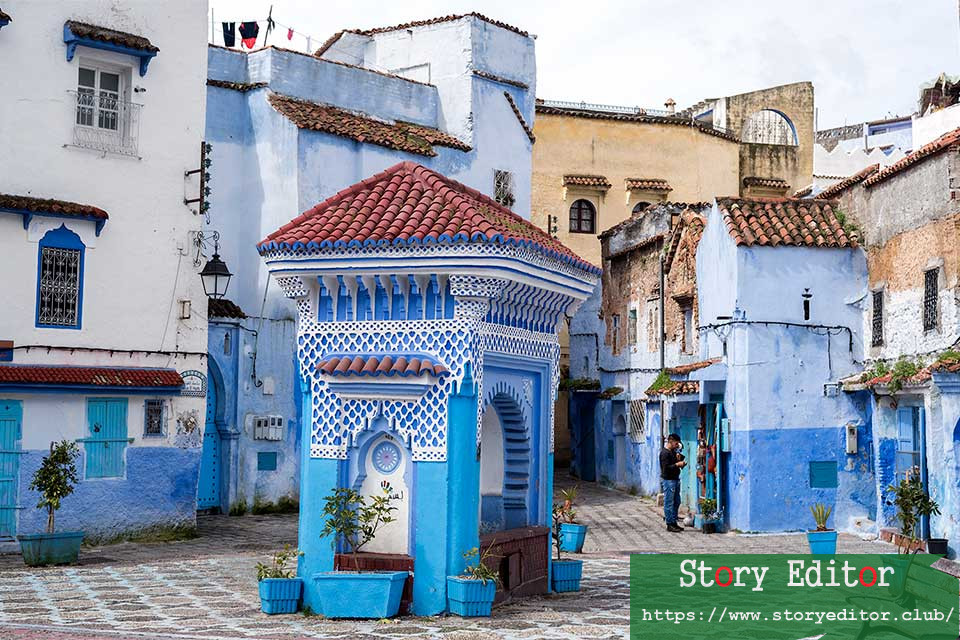 El Haouta Square in the Medina of Chefchaouen (Morocco)